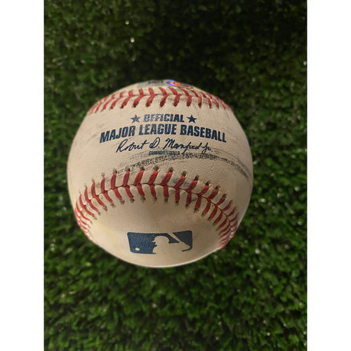 Photo of Ronald Acuna Jr. Game Used Home Run Baseball - August 1, 2020