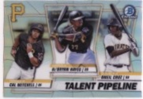 Photo of 2020 Bowman Chrome Talent Pipeline #TPPIT Ke'Bryan Hayes/Oneil Cruz/Cal Mitchell