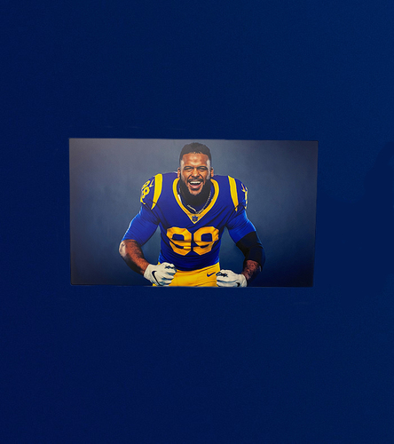 Photo of Aaron Donald 40x24 Metal Canvas