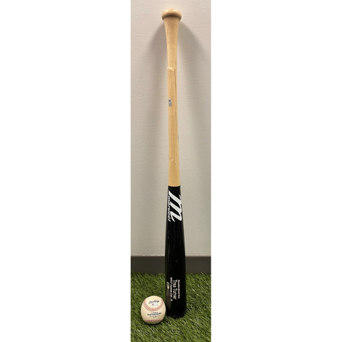 Photo of Trea Turner Game-Used Broken Bat and Baseball - Single from 4/21/2021 vs. St. Louis Cardinals
