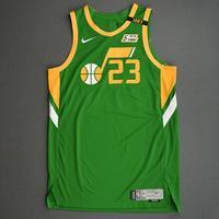 Royce O'Neale - Utah Jazz - Game-Worn Earned Edition Jersey - Recorded a Double-Double - 2020-21 NBA Season
