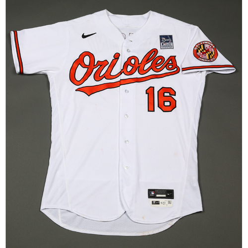 Photo of Trey Mancini: Jersey - Game Used - Lou Gehrig Day
