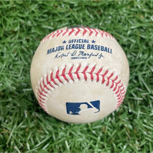 Photo of Game Used Baseball: Jose Martinez single off Hyun-Jin Ryu - Bottom 2 - August 22, 2020 v TOR