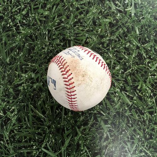 Photo of Game-Used Baseball SF@MIL 08/08/21 - Johnny Cueto - Eduardo Escobar: Double (#2)