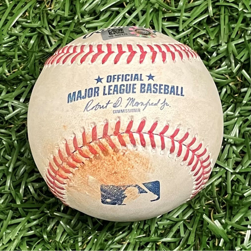 Photo of Game Used Baseball: Ryan Yarbrough strikes out Marcell Ozuna - Top 2 - March 28, 2021 v ATL