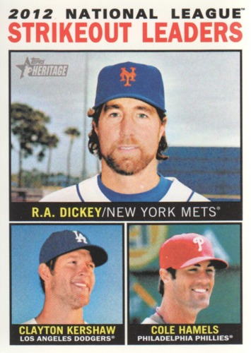 Photo of 2013 Topps Heritage #5 R.A. Dickey/Clayton Kershaw/Cole Hamels