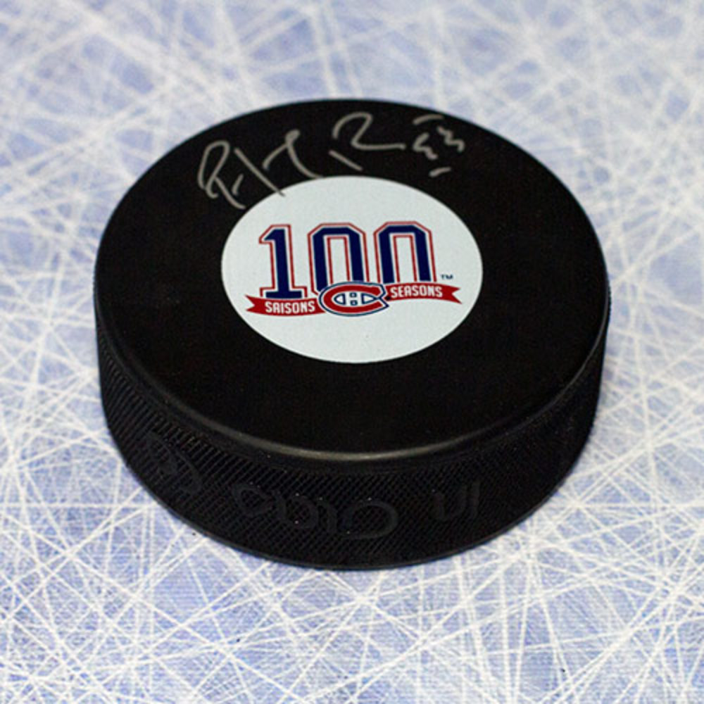 Patrick Roy Montreal Canadiens Autographed 100th Anniversary Puck