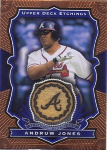 Photo of 2004 Upper Deck Etchings Game Bat Blue #AJ Andruw Jones