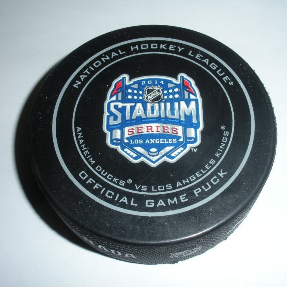 2014 Stadium Series - Kings vs Ducks - Game Puck - First Period - 3 of 7