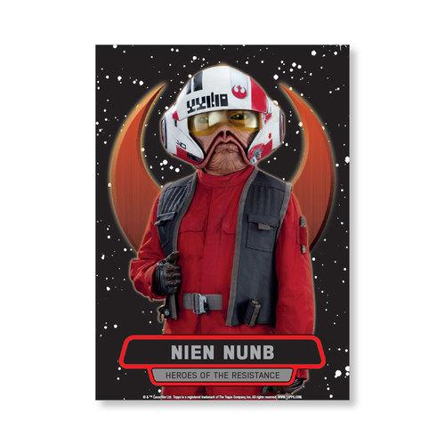Nien Nunb TFA Series 2 HEROES OF THE RESISTANCE Poster - # to 99