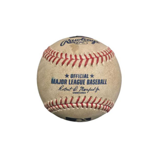 Photo of Game-Used Baseball from Pirates vs. Rays on 6/28/17 - Longoria Double, Morrison Fly Out, Pitch to Souza Jr.