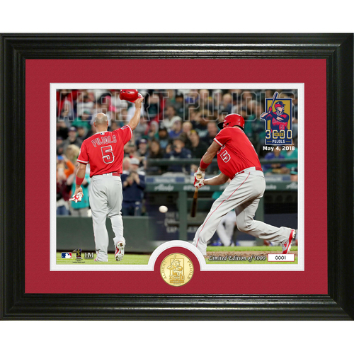 Photo of Albert Pujols 3000 Career Hits Bronze Coin Photo Mint