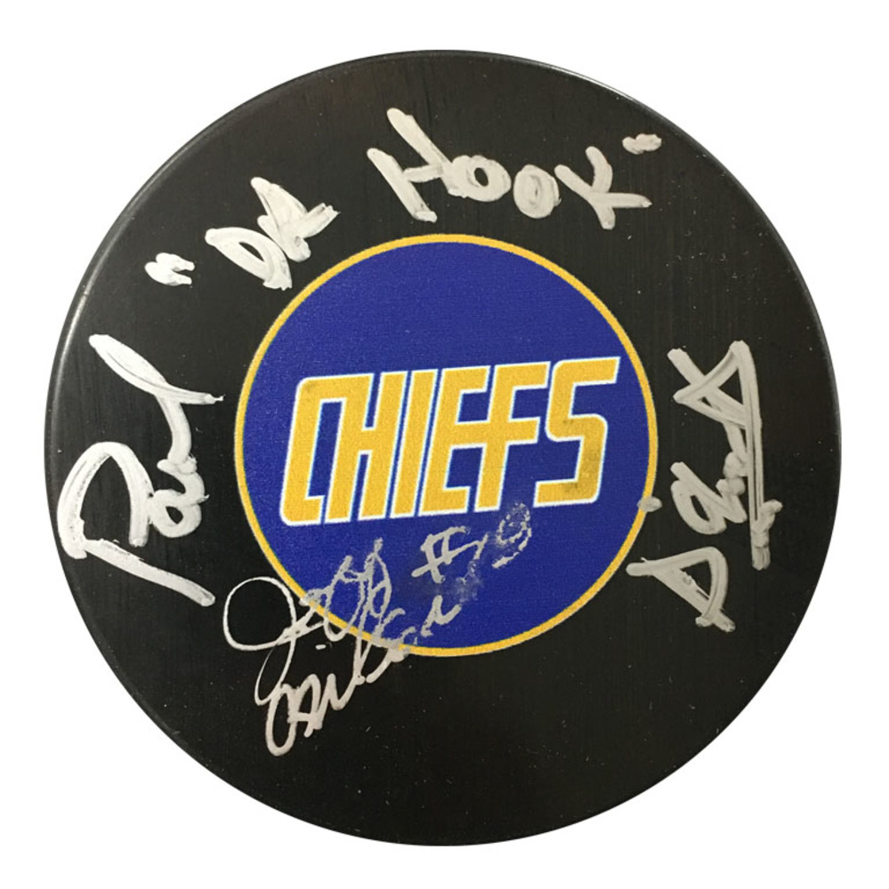 Jeff Carlson & Paul D'Amato signed smudge puck - Chiefs