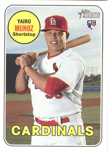 Photo of 2018 Topps Heritage #592 Yairo Munoz RC