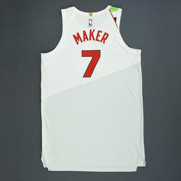 f8f2a174c10 Thon Maker - Milwaukee Bucks - Christmas Day' 18 - Game-Worn Earned ...