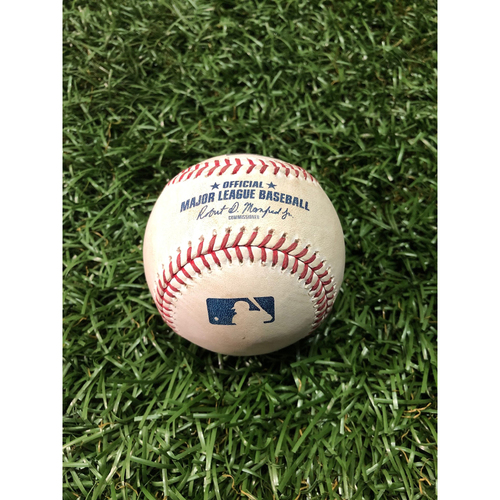 Photo of Game Used Baseball: Yonny Chirinos strikes out Jose Altuve - March 31, 2019 v HOU