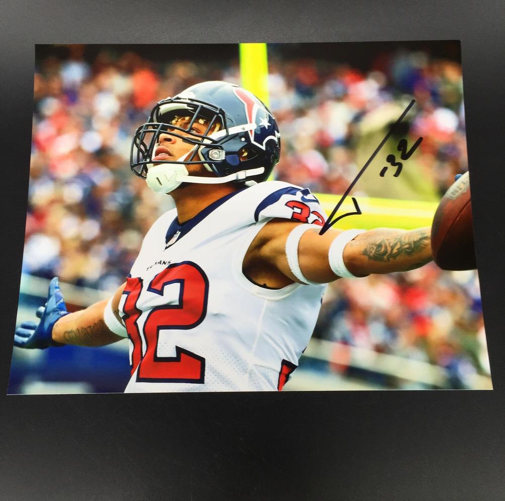 best service 01526 b11a1 NFL Auction | Texans - Tyrann Mathieu Signed 8x10 photo