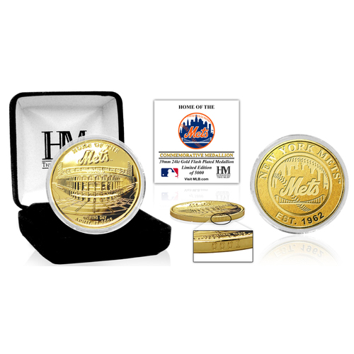 "Photo of New York Mets ""Stadium"" Gold Mint Coin"