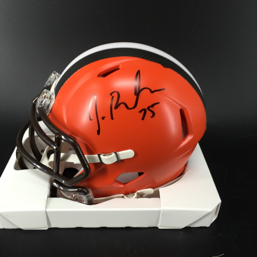 NFL - Browns Joel Bitonio Signed Mini Helmet