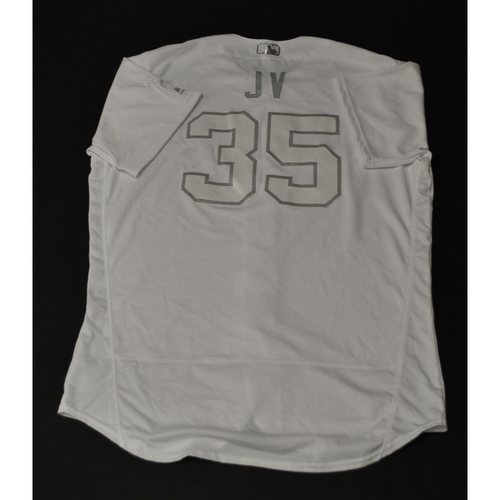 "Photo of Justin ""JV"" Verlander Houston Astros Game-Used 2019 Players' Weekend Jersey"