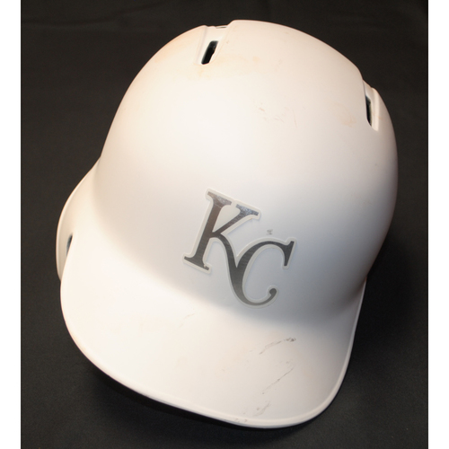 "Photo of Meibrys ""El Fresco"" Viloria Kansas City Royals Game-Used 2019 Players' Weekend Helmet"