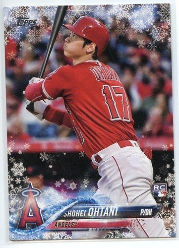 Photo of 2018 Topps Walmart Holiday Snowflake #HMW17 Shohei Ohtani RC