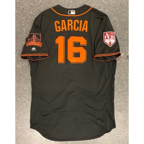 Photo of 2019 Team Issued #16 Aramis Garcia Spring Training Jersey - authenticated on 3/26/19 vs OAK - Size 48