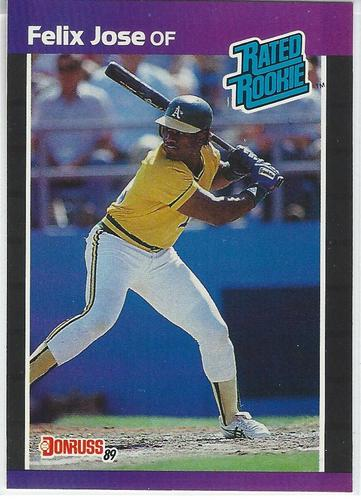 Photo of 1989 Donruss #38 Felix Jose RR RC