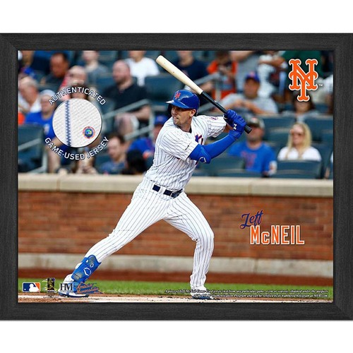 Photo of Jeff McNeil Game-Used Jersey Plaque