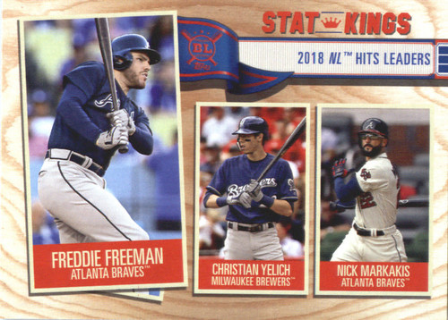 Photo of 2019 Topps Big League #348 Nick Markakis/Christian Yelich/Freddie Freeman
