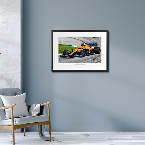 Photo of Lando Norris 2020 Austrian Grand Prix Signed Photo (No.1 edition)