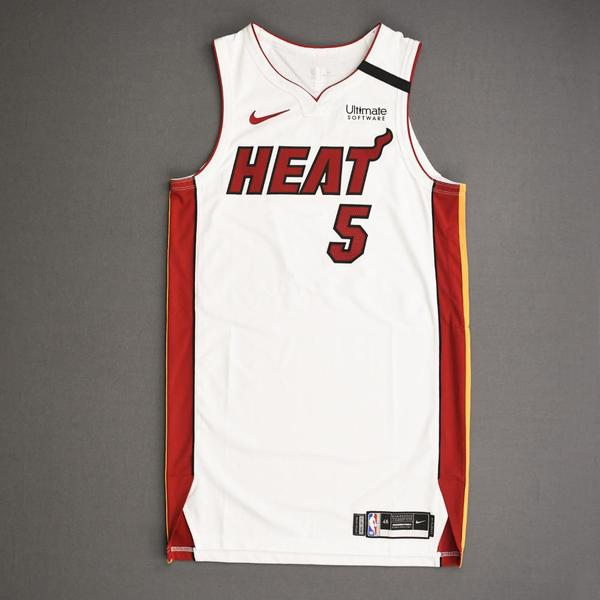 Image of Derrick Jones Jr. - Miami Heat - Game-Worn Association Edition Jersey - 1 of 2 - 2019-20 NBA Season Restart with Social Justice Message