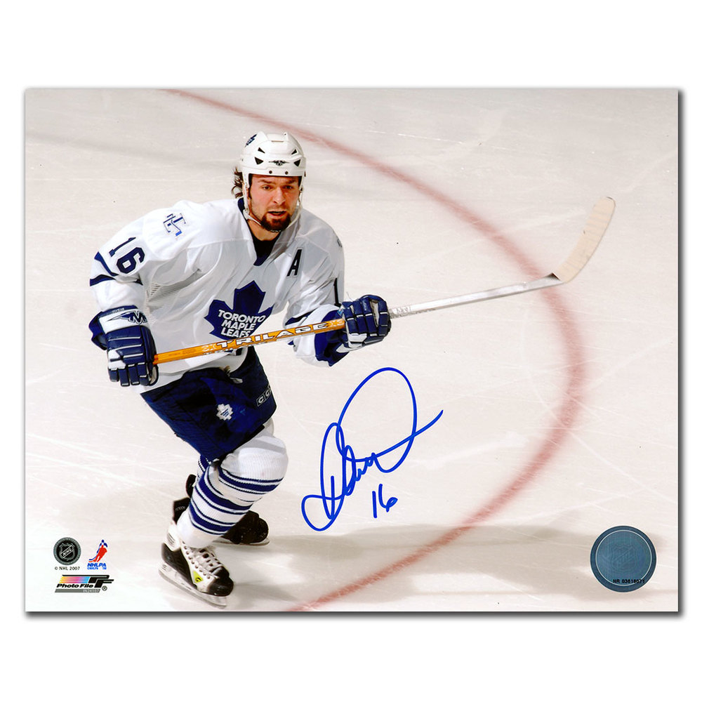 Darcy Tucker Toronto Maple Leafs BREAKOUT Autographed 8x10