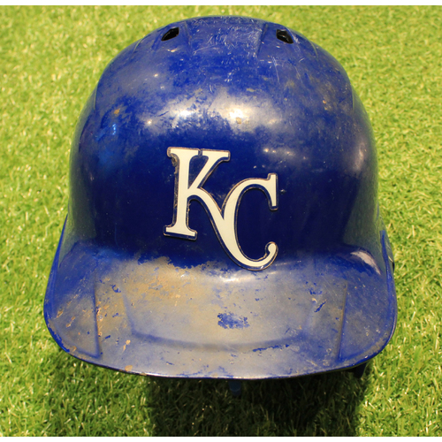 Photo of Game-Used Helmet: Hunter Dozier #17 (DET @ KC 9/26/20)