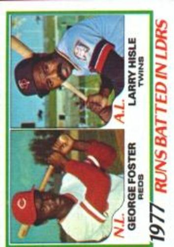 Photo of 1978 Topps #203 RBI Leaders/George Foster/Larry Hisle