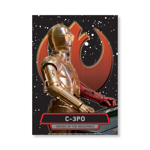 C-3PO TFA Series 2 HEROES OF THE RESISTANCE Poster - # to 99