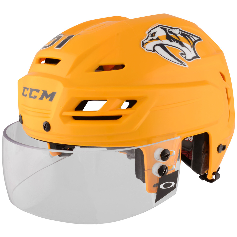 Austin Watson Nashville Predators - 2017 Stanley Cup Final Game-Worn Gold Helmet