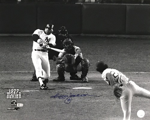 Photo of Reggie Jackson Autographed 16x20 Photo (Batting)
