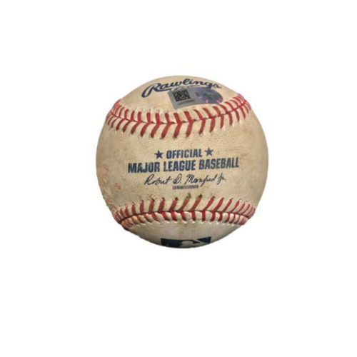 Photo of Game-Used Baseball from Pirates vs. Giants on 7/1/17 - Moore Fly Out, Span Double