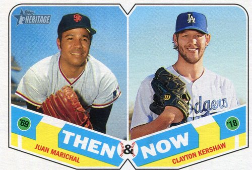 Photo of 2018 Topps Heritage Then and Now #TN3 Clayton Kershaw/Juan Marichal