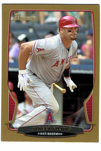 Photo of 2013 Bowman Gold #50 Albert Pujols