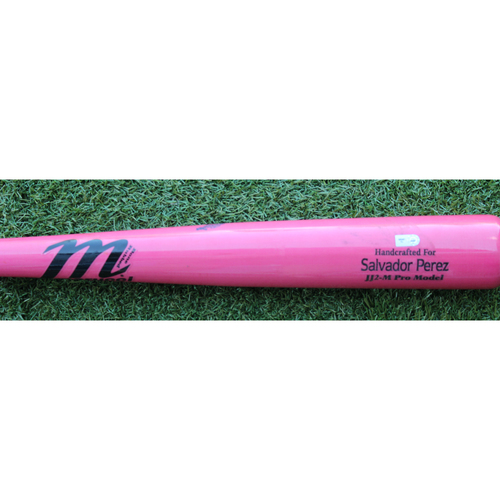 Photo of Game-Used Mother's Day Bat: Ryan Goins Ground Out - Salvador Perez Model (KC @ CLE - 5/13/18)