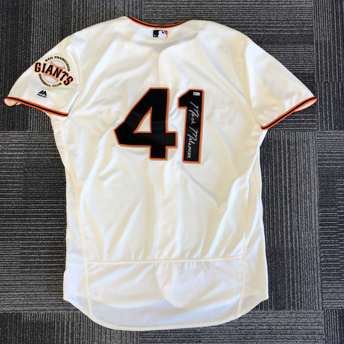 Photo of Autographed Authentic Jersey Signed by #41 Mark Melancon - Size 48