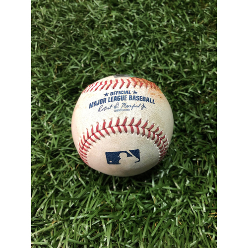 Photo of Game Used Baseball: Willy Adames double and Austin Meadows at-bat against David Hess - April 17, 2019 v BAL