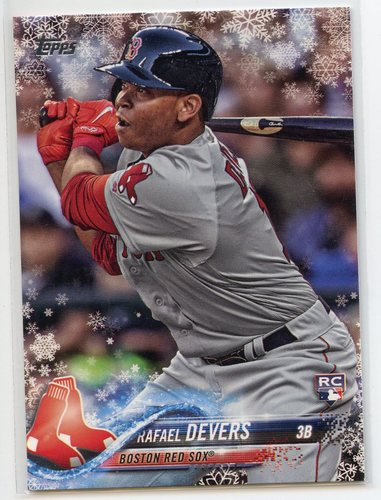 Photo of 2018 Topps Walmart Holiday Snowflake #HMW67 Rafael Devers RC