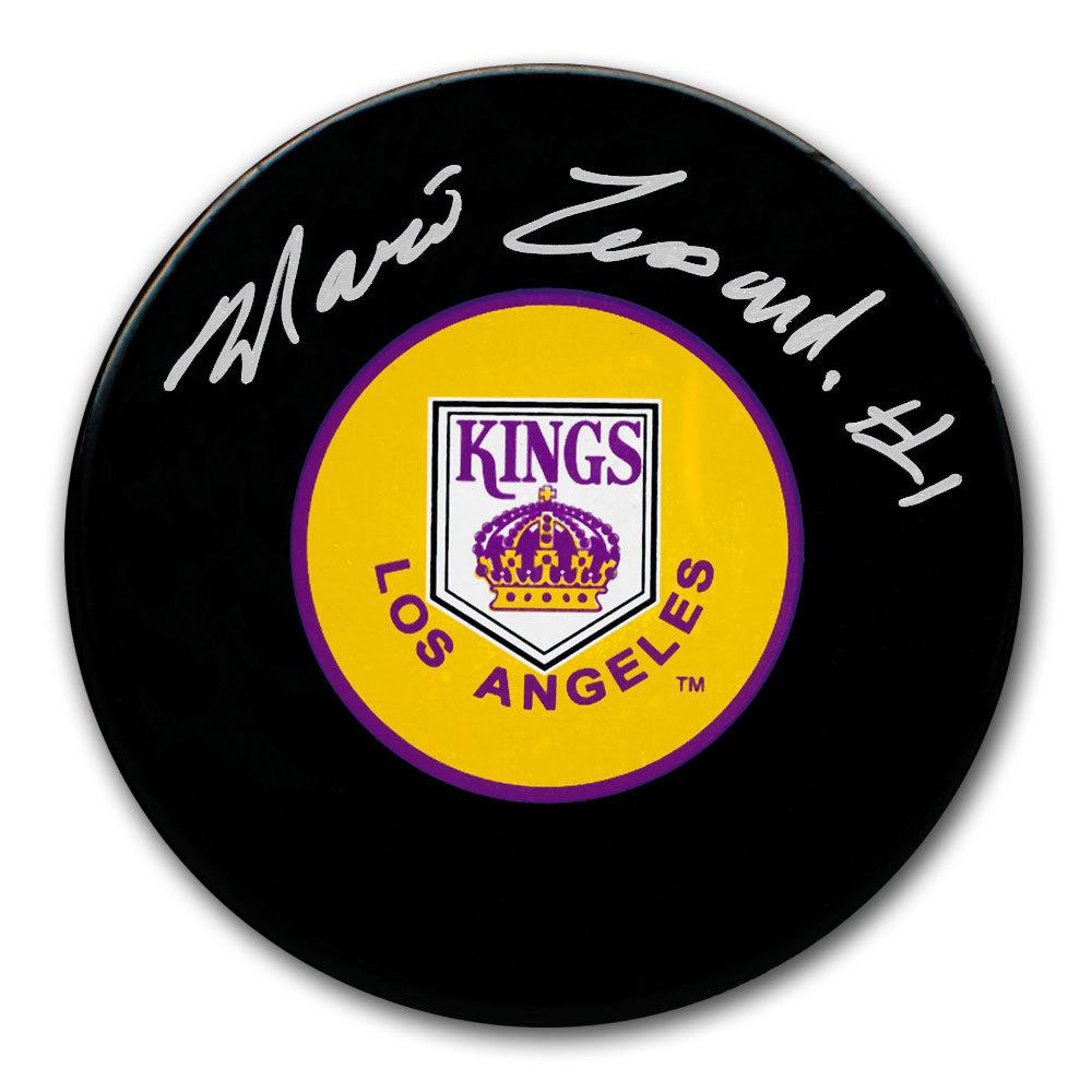 Mario Lessard Los Angeles Kings Autographed Puck