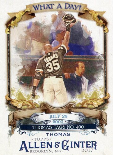 Photo of 2017 Topps Allen and Ginter What a Day #WAD26 Frank Thomas