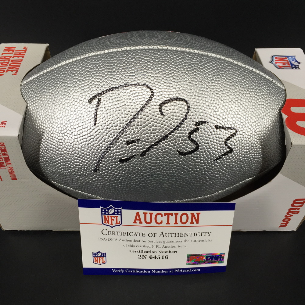 NFL - Colts Darius Leonard Signed Silver 100 Seasons Commemorative Football