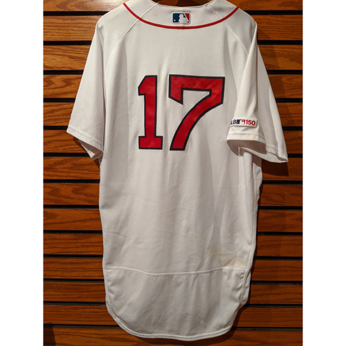 Photo of Nathan Eovaldi Game Used Home White Jersey