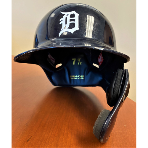 Photo of Miguel Cabrera #24 Detroit Tigers 2020 Game-Used Home Batting Helmet - Career HR #484 (MLB AUTHENTICATED)